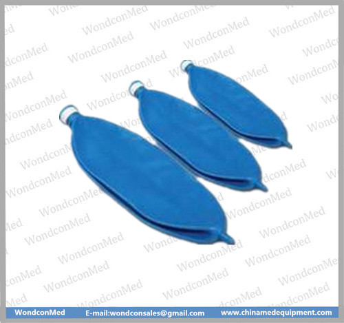Disposable blue latex breathing bag WMA400B